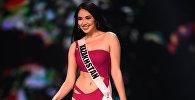 Представительница Казахстана Сабина Азимбаева выступает на Мисс Вселенная