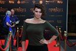 Актриса Янина Мелехова на премьере фильма Прощаться не будем