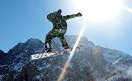 Архивное фото лыжника на Чимбулаке