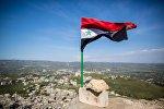 Архивное фото флага Сирии