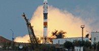 Архивное фото пуска ракеты-носителя Союз-ФГ с пилотируемым кораблем Союз МС-02 с космодрома Байконур