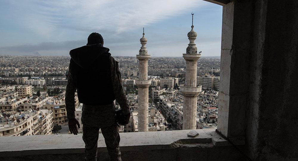 Архивное фото военнослужащего Сирийской Арабской армии в городе Алеппо