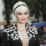 Английская модель и актриса Кара Делевинь на европейской премьере фильма Валериан и город тысячи планет в Лондоне
