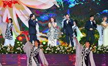 Актриса Самал Еслямова спела песню Абая на праздновании Дня Независимости в СКО