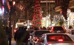 Дамаск украсили праздничными гирляндами и новогодними елками - видео