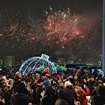 Церемония зажжения главной новогодней елки Астаны