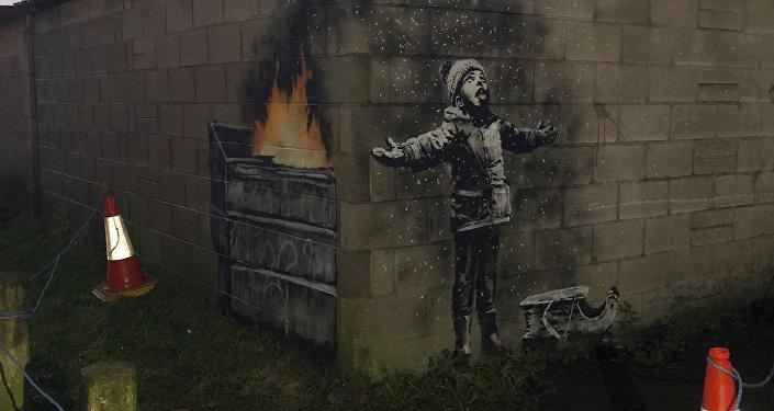 Новое граффити Бэнкса появилось на улицах Уэльса