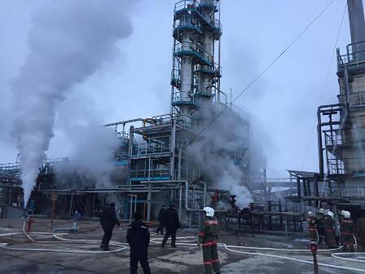 Хлопок газа произошел при запуске печи в Таразском филиале ТОО Амангелдинский ГПЗ