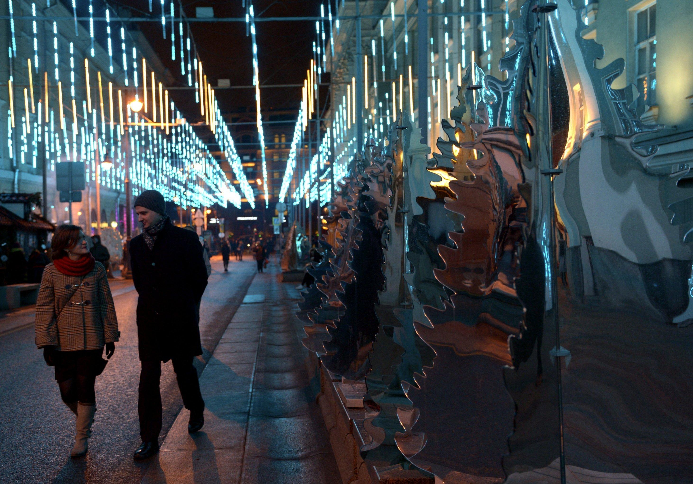 Мәскеудің Үлкен Дмитровка көшесіндегі айна инсталляция