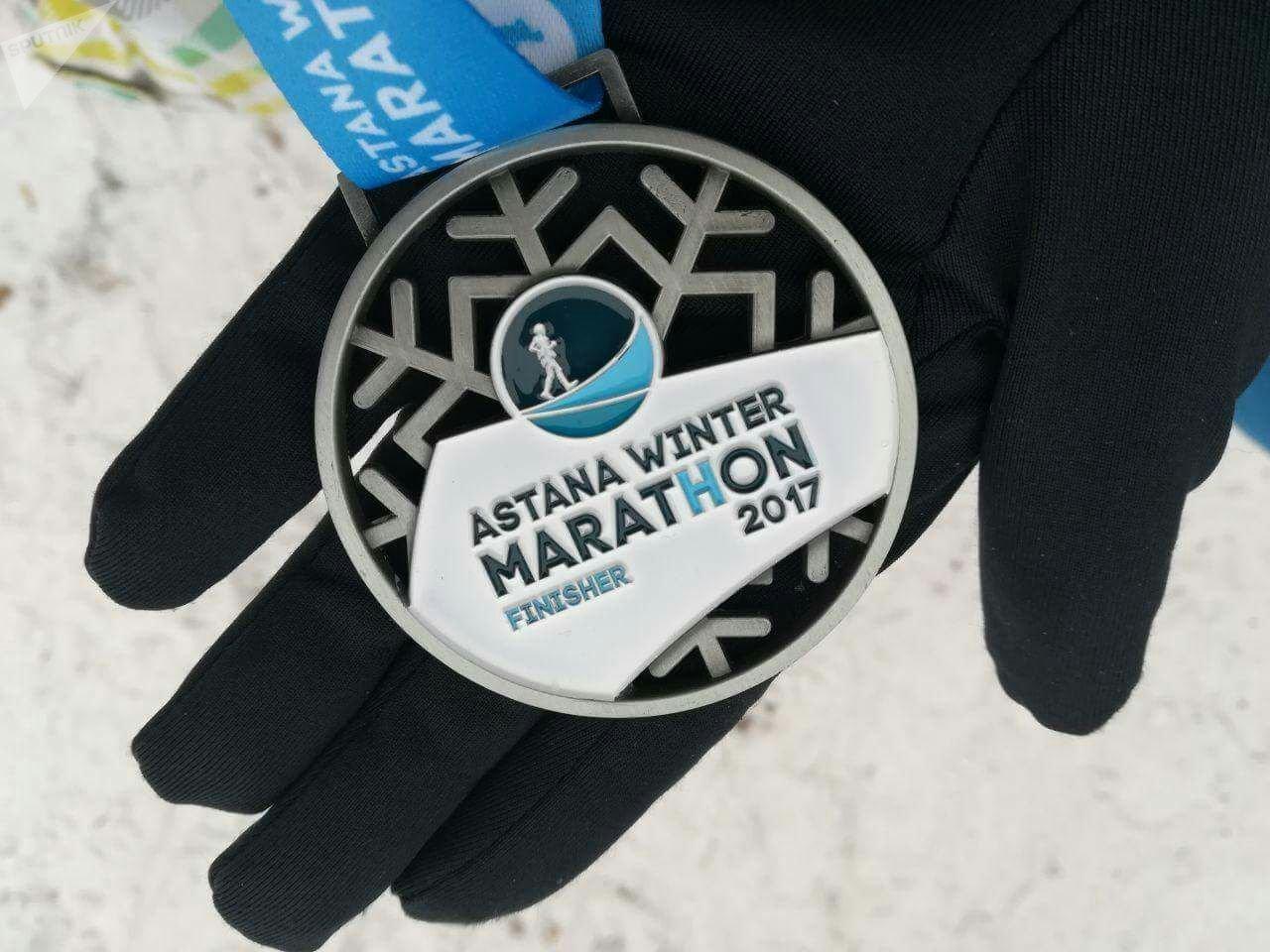 Первый зимний марафон в Астане