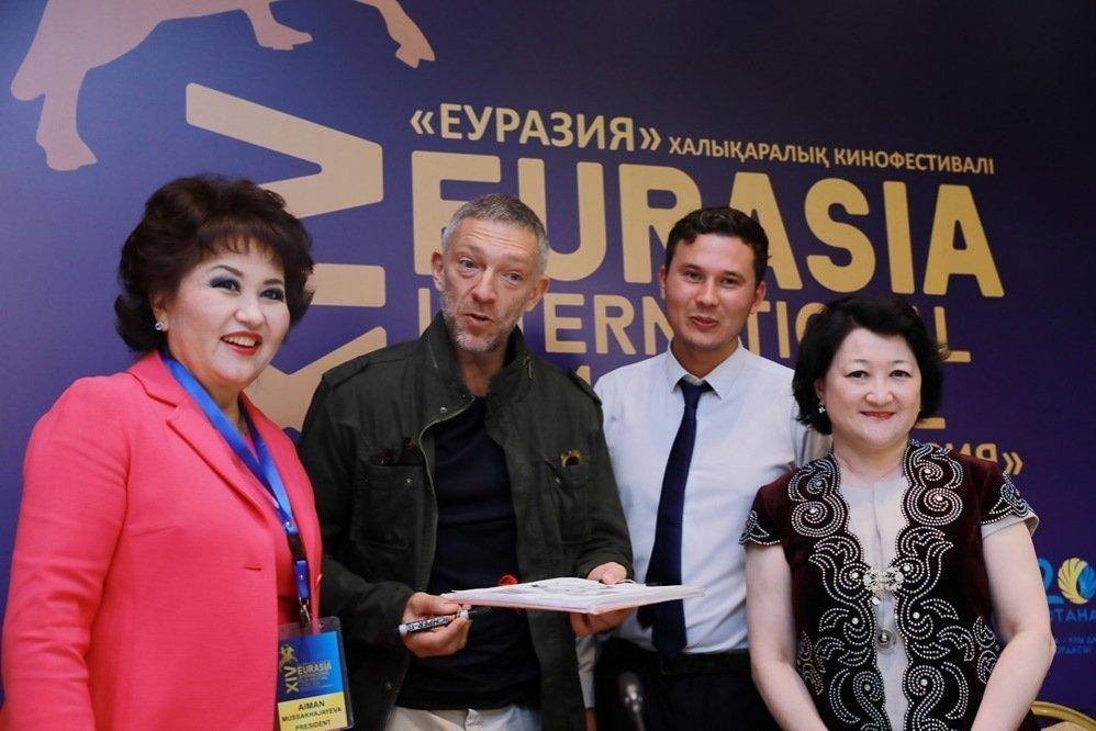 Французский актер Венсан Кассель на кинофестивале Евразия-2018