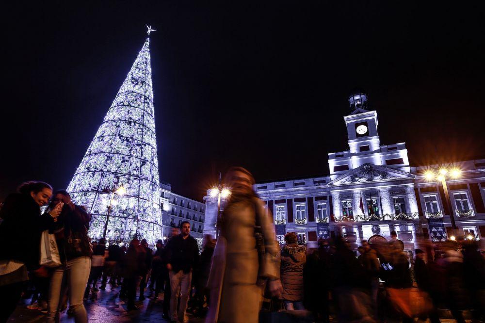 Мадридтегі рождество шыршасы.