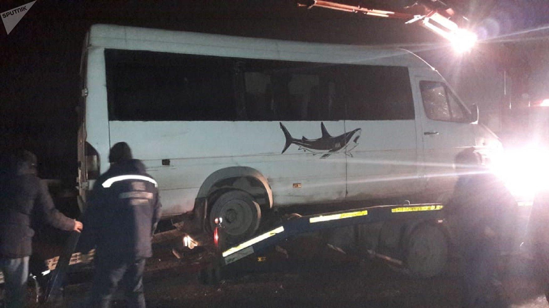 Mercedes Sprinter насмерть сбил пешехода