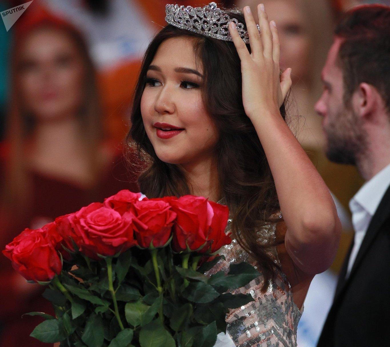Участница конкурса красоты Мисс Москва 2018 Дина Кожасаева