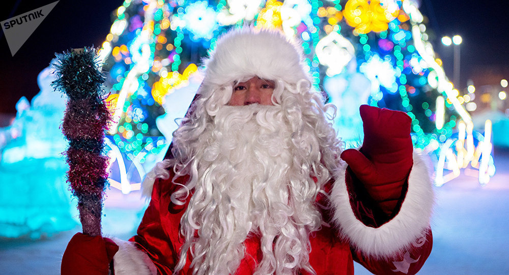 Дед Мороз возле елки