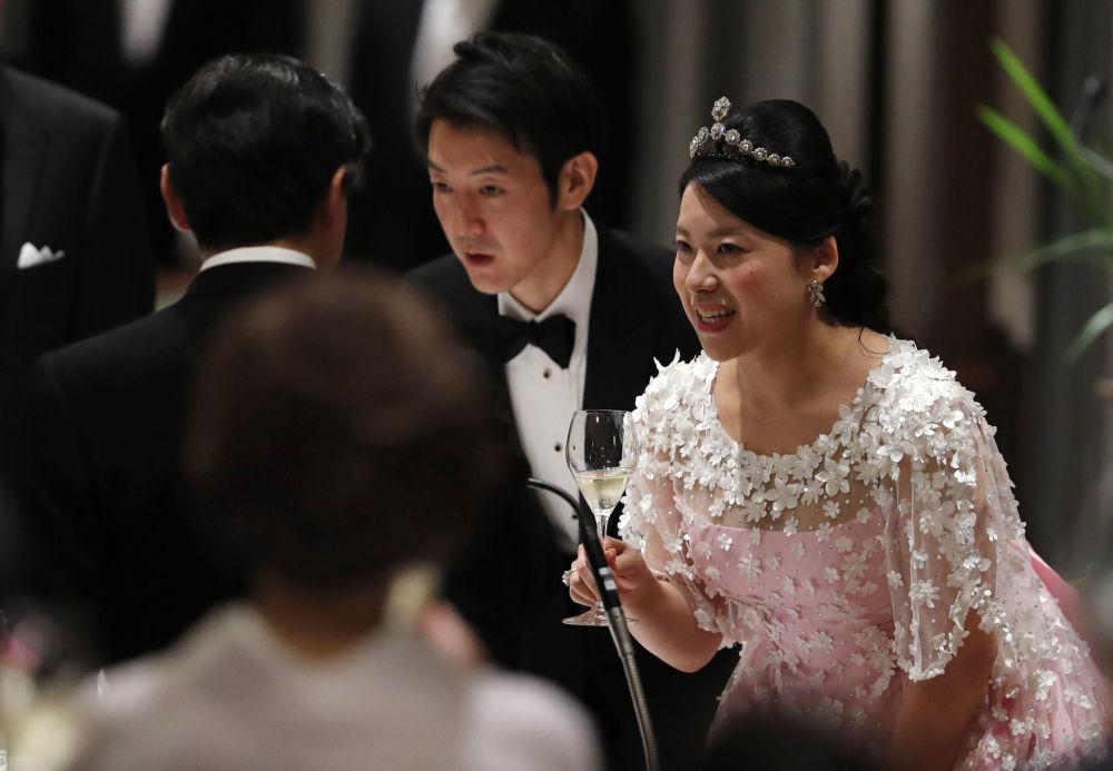 Бывшая принцесса Императорского дома Японии Аяко Мория и ее муж Кей Морию