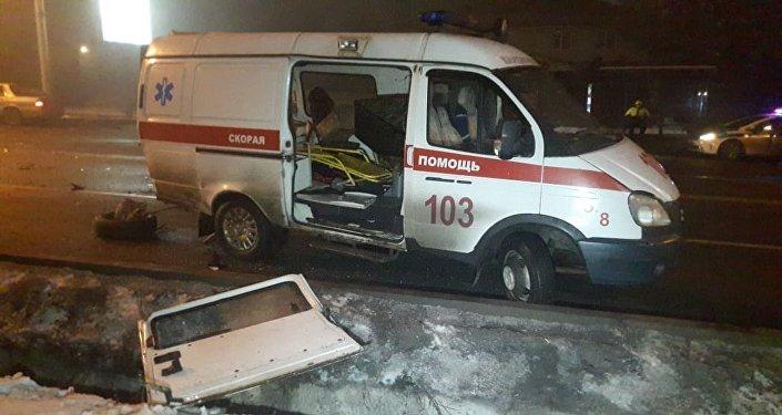 ДТП с участием автомобиля скорой помощи