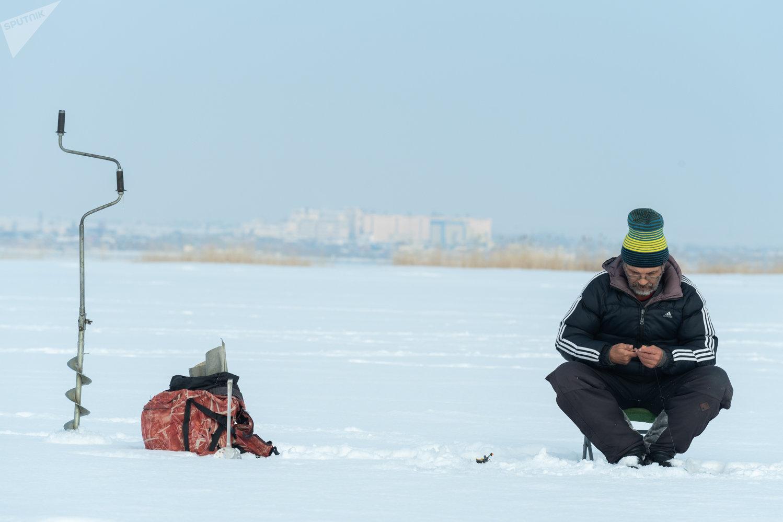 Подледная рыбалка на Капчагайском водохранилище