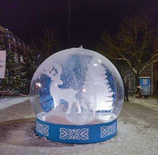 Новогоднее оформление в Петропавловске