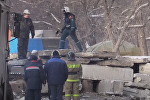 Спасательная операция на месте обрушения дома в Магнитогорске