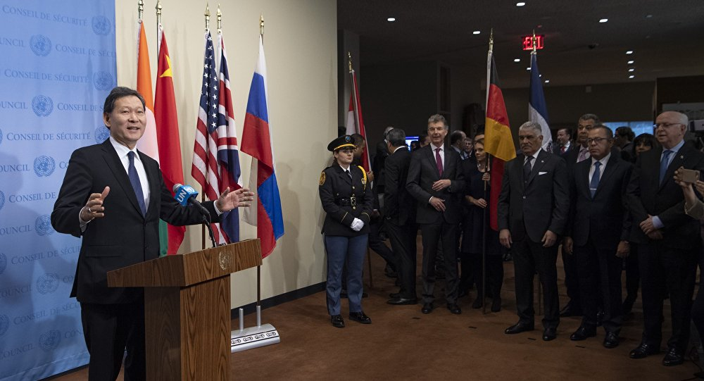 В штаб-квартире ООН состоялась церемония установки флагов новых участников Совета безопасности организации