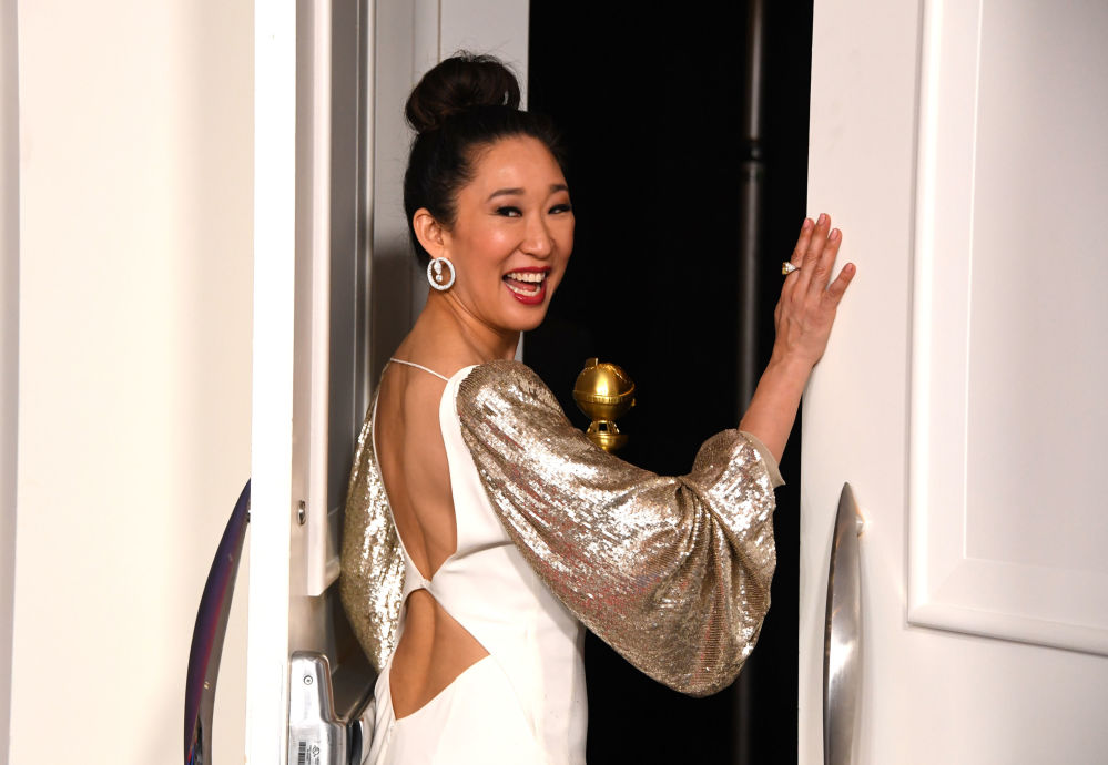 Актриса Сандра О на церемонии вручения премии Золотой глобус в Калифорнии