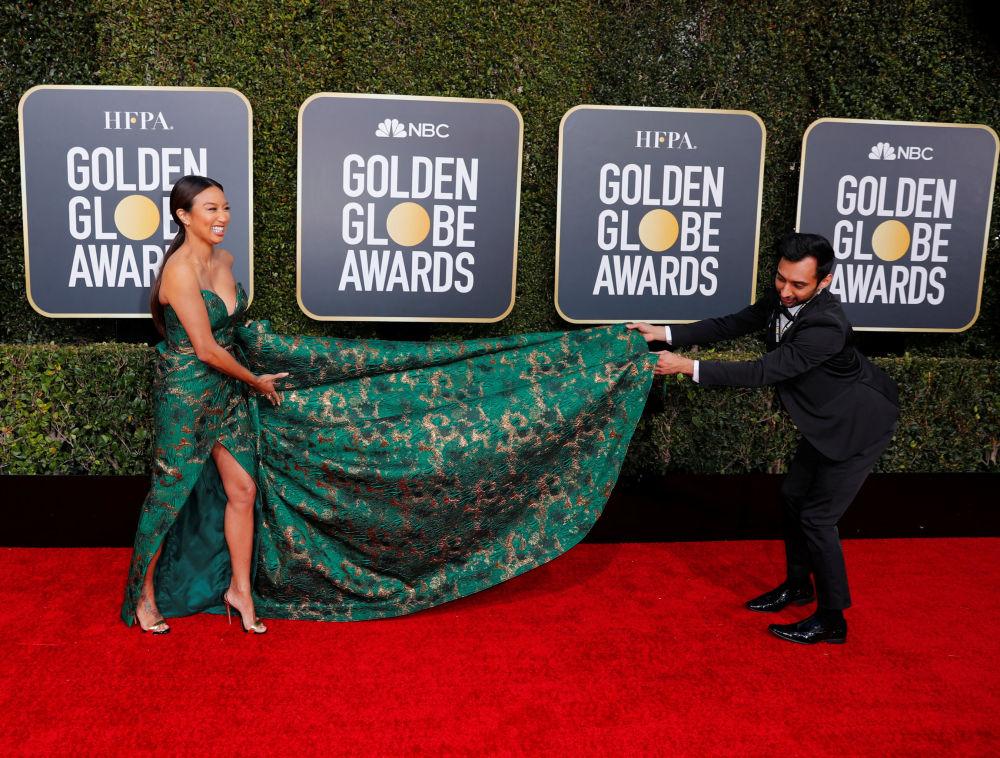 Телезвезда Жанни Май на церемонии вручения премии Золотой глобус в Калифорнии