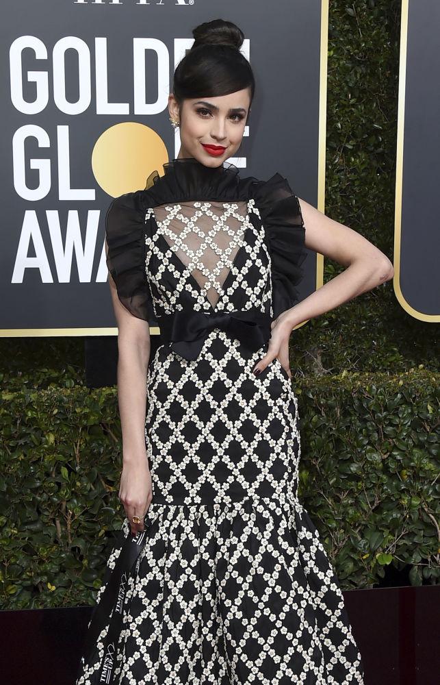 Актриса София Карсон на церемонии вручения премии Золотой глобус в Калифорнии