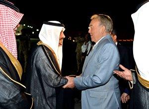 Президент Казахстана Нурсултан Назарбаев прибыл с визитом в Саудовскую Аравию