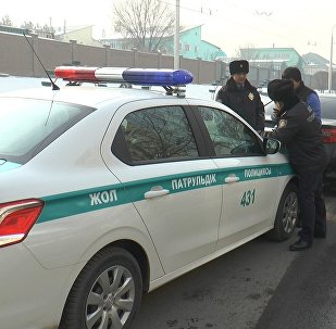 Архивное фото машины дорожно-патрульной полиции
