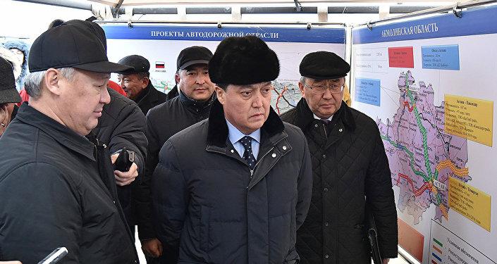 Асқар Мамин  Астана-Теміртау автобанын тексерді