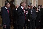 Президент Дональд Трамп на встрече с лидерами Конгресса 9 января 2019 года
