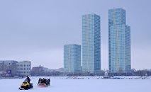 Астана зимой. Виды города