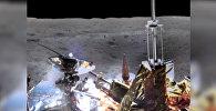Панорамные снимки обратной стороны Луны, сделанным китайским луноходом Чанъэ-4