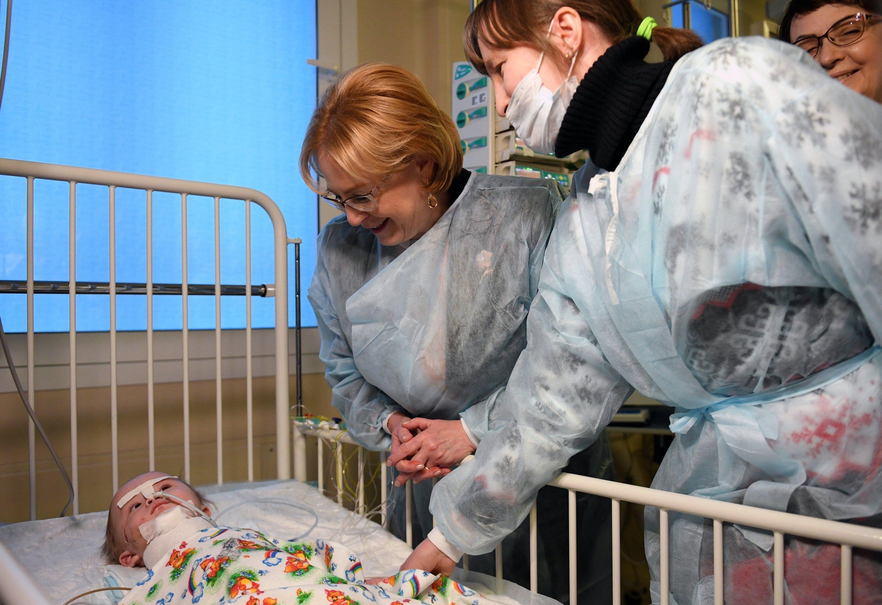 Ваня Фокин в НИИ неотложной детской хирургии и травматологии