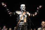 Мужчина в образе персонажа Игры престолов Короля ночи на Comic Con, архивное фото