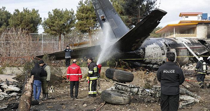 Boeing 707 жүк ұшағы Иранда апатқа ұшырады
