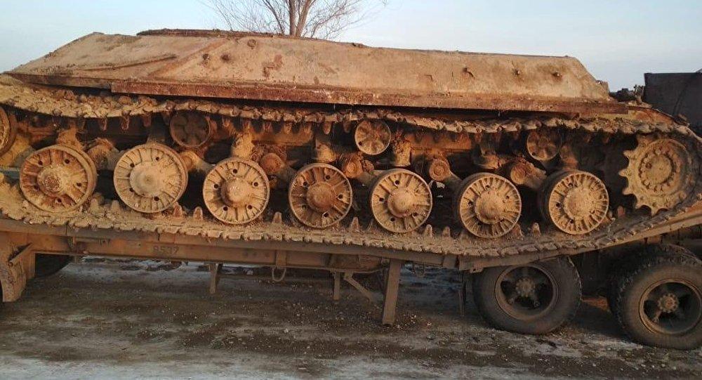 Бесхозный танк, найденный в Алматинской области