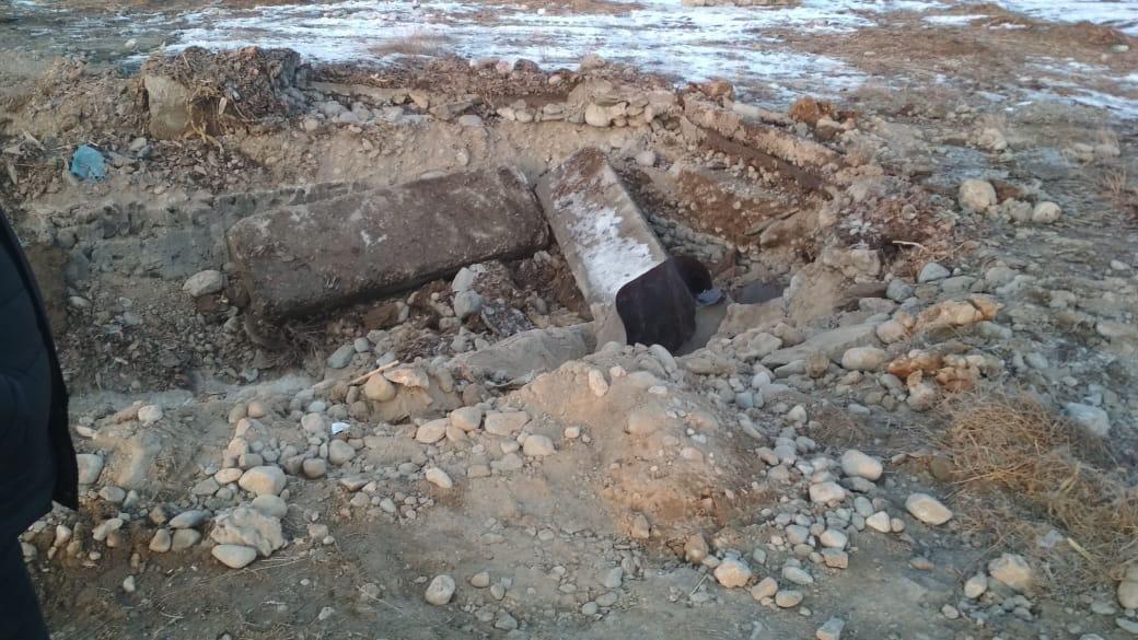 Жер астынан табылған танк