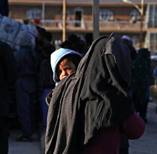 Беженцы из провинции Газни в Афганистане