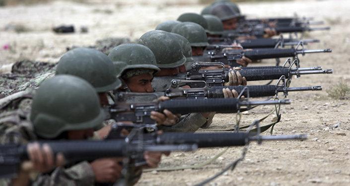 Военнослужащие Афганистана на учениях