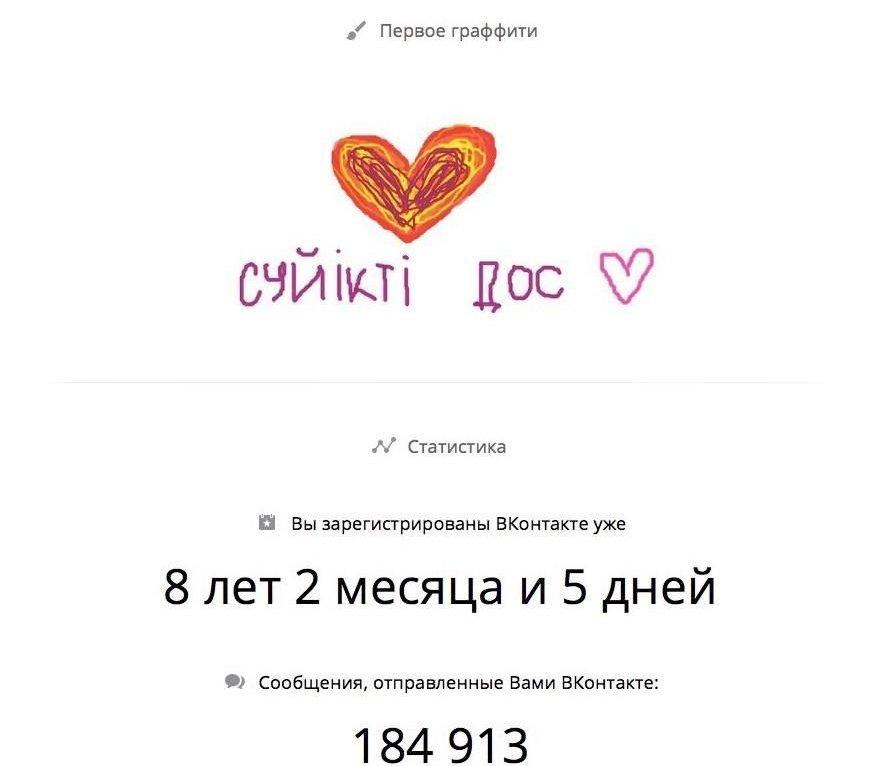 Оказалось, что одной из первых публикаций в социальной сети Вконтакте у Лизы было словосочетание на казахском языке Cүйікті дос, которое переводится как Любимый друг.