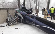 Вертолет упал на территорию санатория Алатау