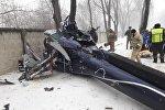 Вертолет упал близ Алматы