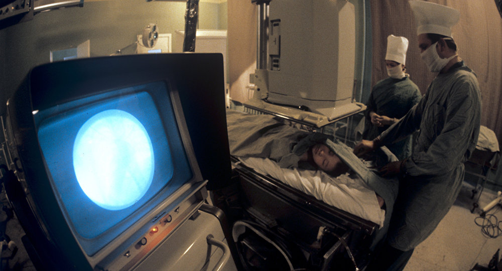 Архивное фото исследования сердца и сосудов пациента