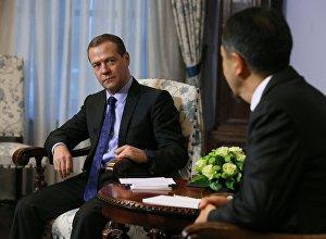 Премьер-министр РФ Д. Медведев встретился с премьер-министром Казахстана Б. Сагинтаевым