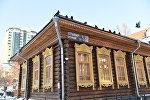 Сәкен Сейфуллин музейі орналасқан ағаш ғимарат, архивтегі фото