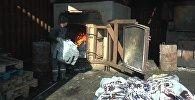 В Алматы сожгли контрафактные носки на миллион тенге