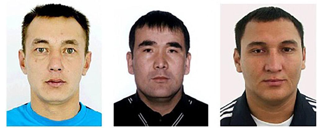 Күдіктілер солдан оңға қарай: Ахметов Б.М., Шукилдиков Н.М., Акшанов К.В.