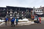 Полиция выясняет причины возгорания трехэтажного здания, который находится на территории престижного курорта